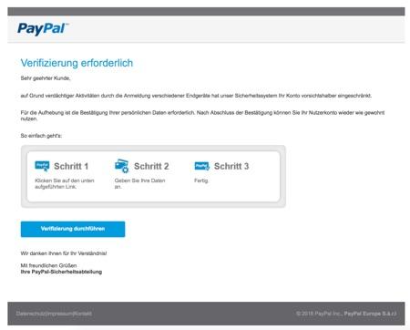 Paypal Ihre Mithilfe Ist Erforderlich